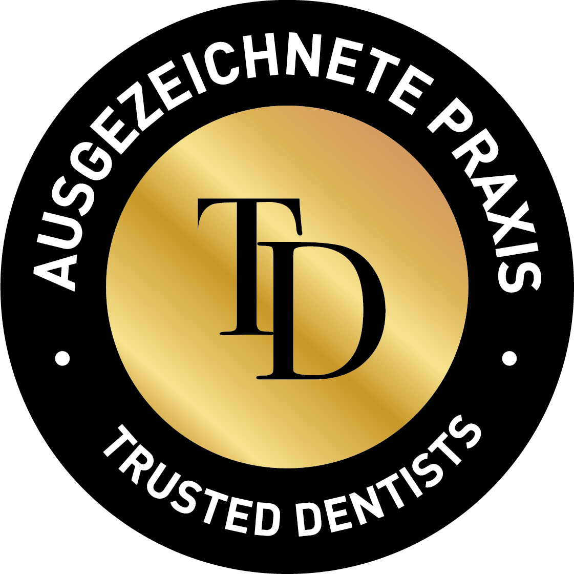 Trusted Dentists Siegel rund